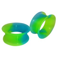 Blue Green Ear Gauges