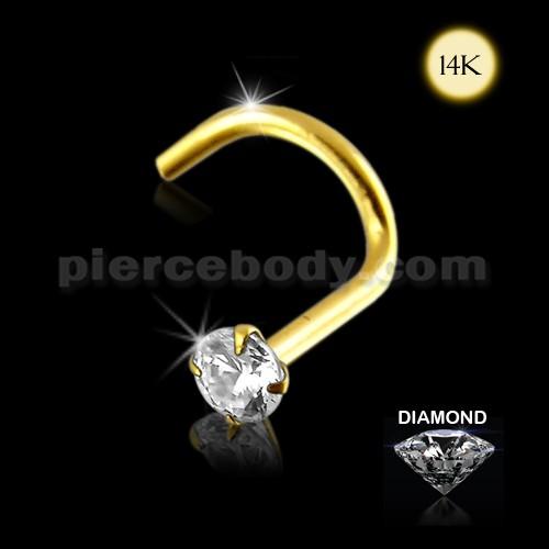 diamond nose piercing