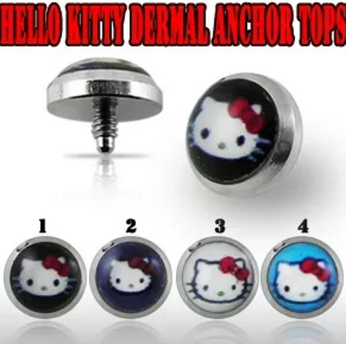 Hello Kitty dermal anchor tops