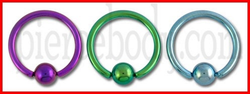 Anodised Smiley Piercing Jewelry