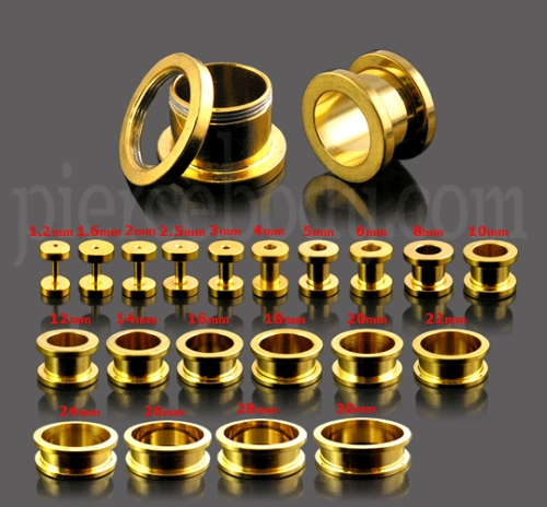 10mm 30mm Gauge Chart in Gold