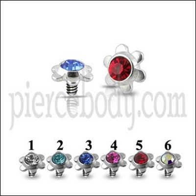 Flower Jeweled Dermal Tops