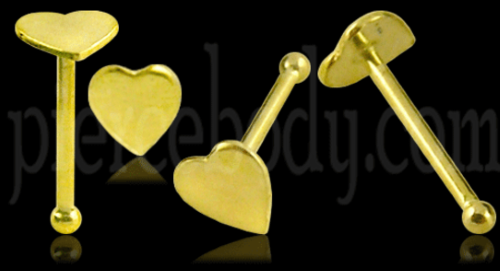 gold heart shaped