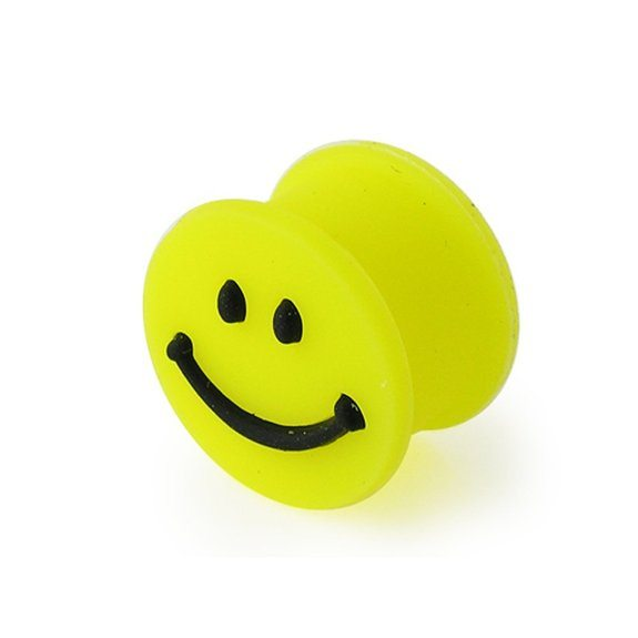 embossed-smiley-face-on-yellow-silicone-double-flared-flesh-ear-plugs_3397689