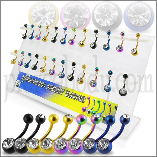 anodized belly button ring jewelry