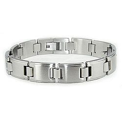 Stainless-Steel-Mens-Dual-finish-Link-Bracelet-P11720843