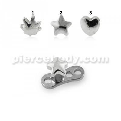 dermal anchor set jewelry