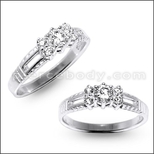 diamond cut finger rings