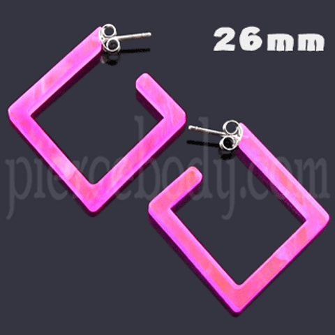Diamond cartilage earrings