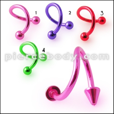 anodized ear jewelry