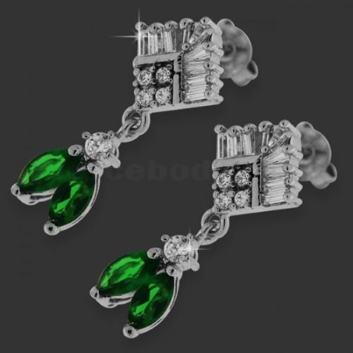 dangling brass earring