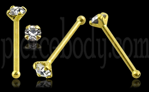gold ball end nose pins