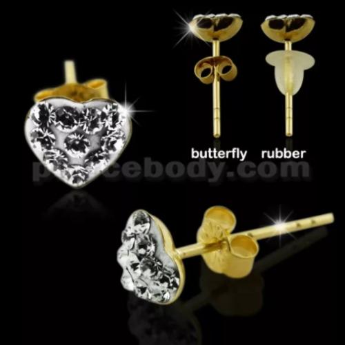 gold ear piercing jewelry