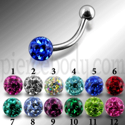 jewelled curved barbells
