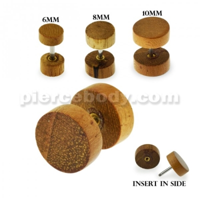 organic wood fake earplug