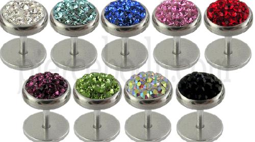 stone plug ear piercing design
