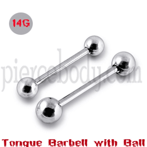 tongue piercing barbell