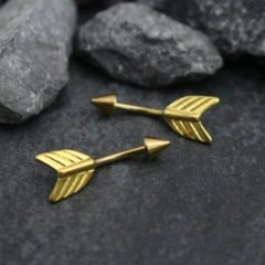 Elegant and Stylish Eyebrow Gold Piercing Jewelry