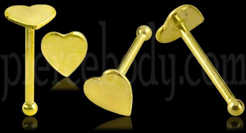 9k gold nose pin