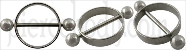 silver nipple piercing ring