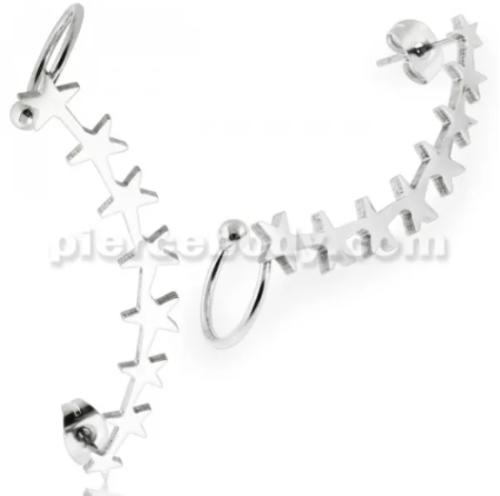 surgical steel ear piercing jewelry
