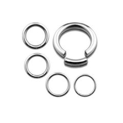 Surgical steel Segment rings for any and every piercing