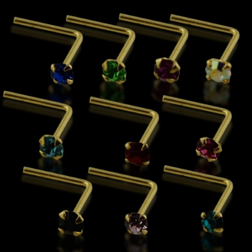 14 gold nose pin