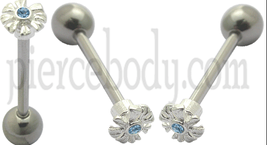 Silver Straight Barbell Jewelry