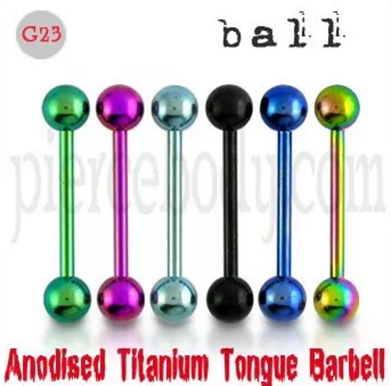 Titanium Straight Barbells