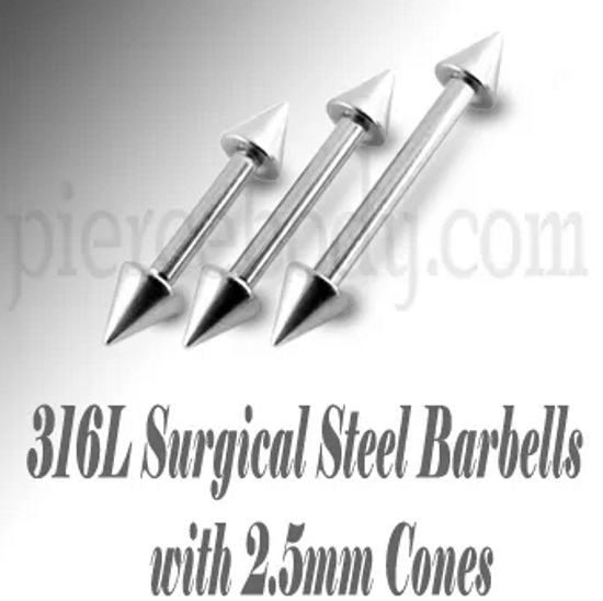 stainless steel straight barbells