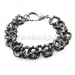 Skulls Chain Link Stainless Steel Bracelet
