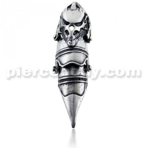 Awesome Full Finger Predator Skull Armor Ring