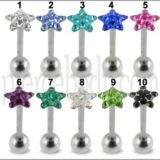 Star Crystal Top Tongue Barbell