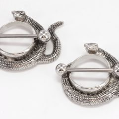 11mm Diameter Jeweled Double Snake Nipple Shield