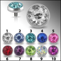 Dermal Anchors Top with 5mm Stone
