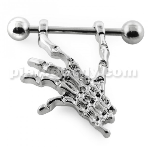 skeleton hand nipple piercing jewelry
