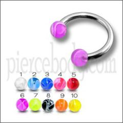 SS Circular Barbells with UV Balls: The Best Spider Bite Piercing Jewelry