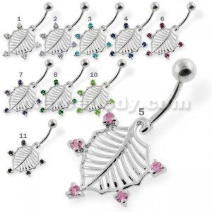 Silver Non Dangling Belly Rings