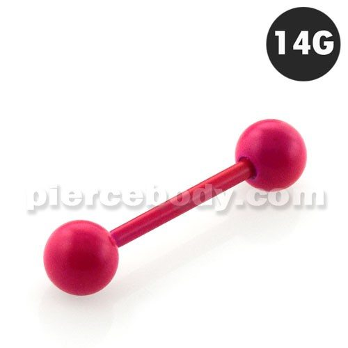 Alluring Anodized Straight Barbells Body Jewelry