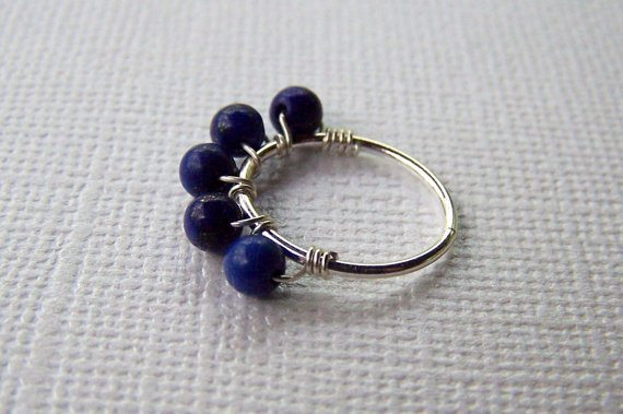 Cartilage Earring Lapis Lazuli- Price- $14.00 USD