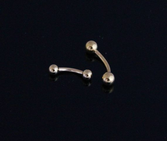 Gold Plated Curves Eyebrow, Body Piercings- Price- $5.25 USD