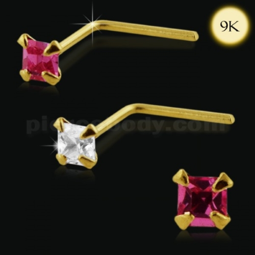 Gold Gems Nose Studs