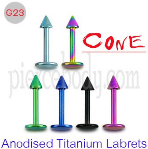 anodised titanium labrets