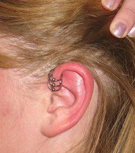Reverse Helix Piercing