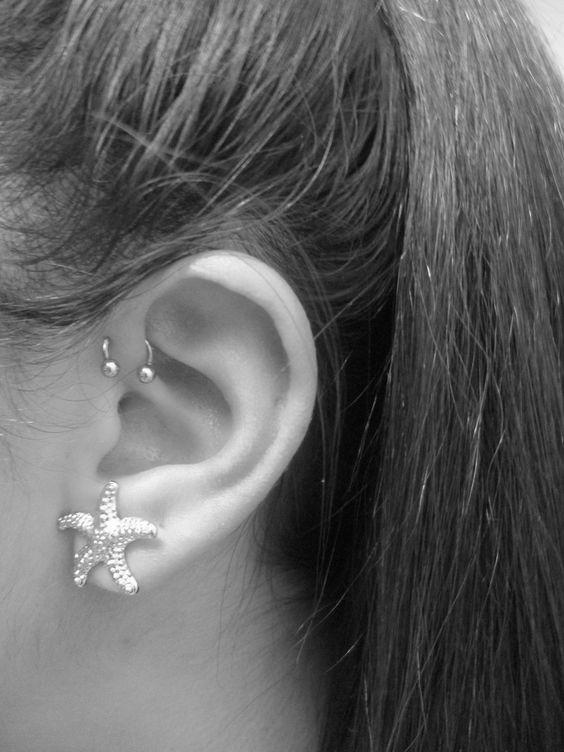 Bijoux Helix Piercing Information, Conseils et ... Ear Piercings Types