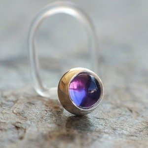 Post nose ring jewelry Stud