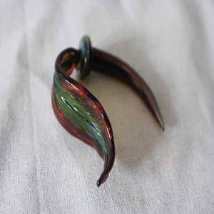 Body art , tapers stretchers, plugs..Dragon Tongue.....By de la Mare Glass