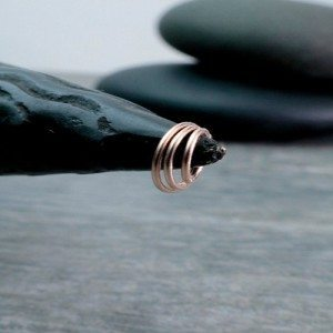 Rose Gold Filled Endless Hoop Teeny nose ring jewelry