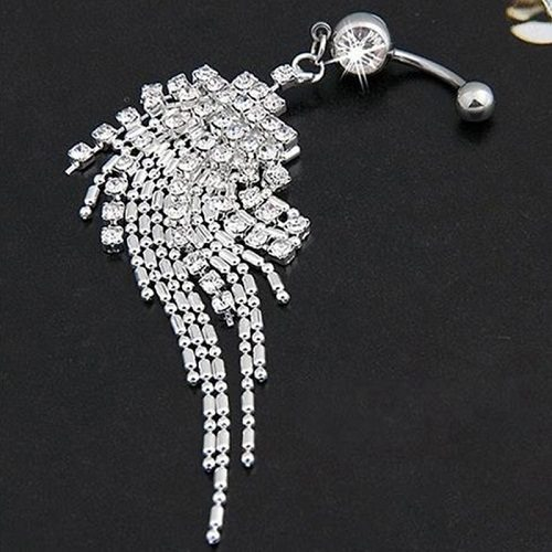 Silver Dangling Belly Rings