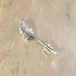 Silver Feather Belly Button Rings Belly Ring In-N-Out